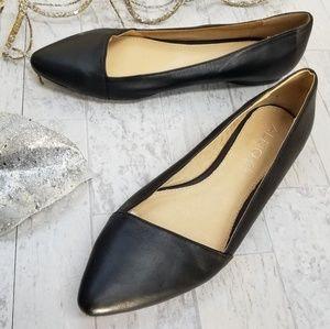 Aldo Black Leather Flats Size 8.5